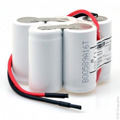 Batterie eclairage secours 5xSC ST7 fils 6V 1.6Ah