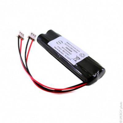 Batterie eclairage secours 4x AA HT (2x) 2S1P ST5 (2x) 2.4V 800mAh Molex
