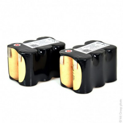 Batterie Nicd 12x C 12S1P ST2 14.4V 3Ah T2 (ensemble de 2 batteries)