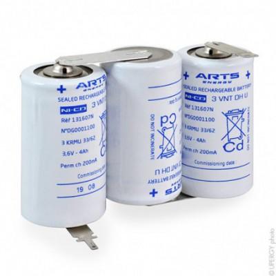 Batterie eclairage secours 3 VNT DH U ST1 3.6V 4Ah