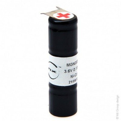 Batterie Nicd 3x 1-3AA NX 3S1P ST4 3.6V 150mAh CI2+