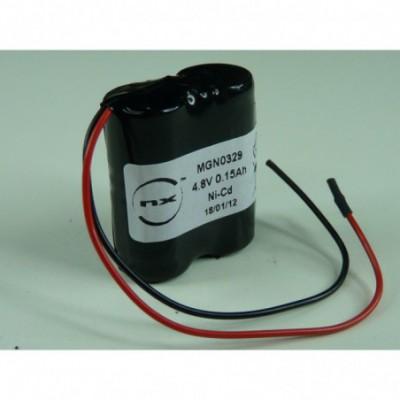 Batterie Nicd 4x 1-3AA NX 4S1P ST5 4.8V 150mAh F100