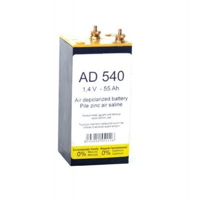 Pile depolarisation air saline AD540 1.4V 55Ah