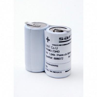 Batterie eclairage secours 2 VNT CS U ST1 2.4V 1.6Ah