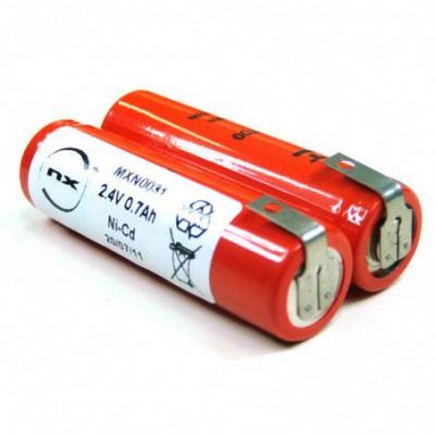 Batterie Nicd AA Batterie rasoir 2.4V 700mAh