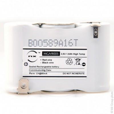 Batterie eclairage secours 3xSC ST1 Faston 6.3mm+2.8mm 3.6V 1.6Ah