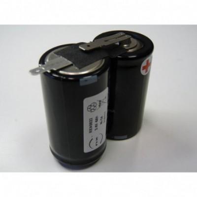 Batterie eclairage secours 2x D VNT 2S1P ST1 2.4V 4Ah Fast