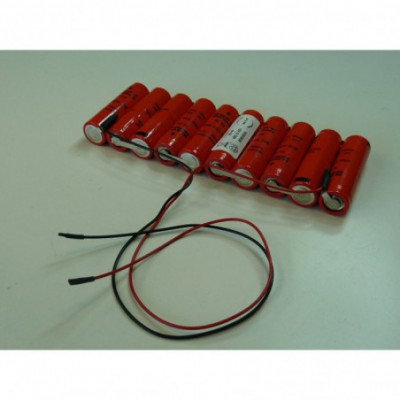 Batterie Nicd 10xAA 10S1P ST1 F250 12V 700mAh F250