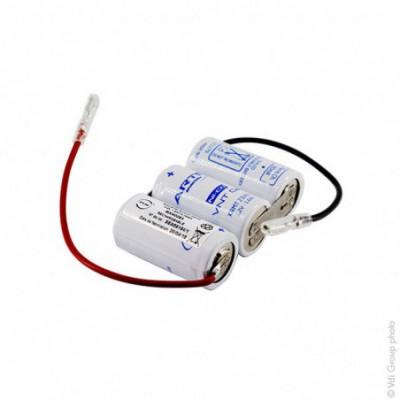 Batterie eclairage secours 3x SC HT 3S1P ST1 3.6V 1.6Ah FAST
