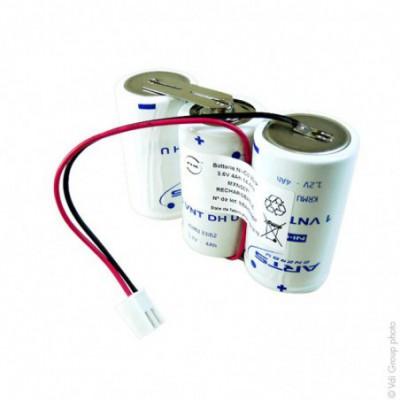 Batterie eclairage secours 3x D 3S1P ST1 3.6V 4Ah JST