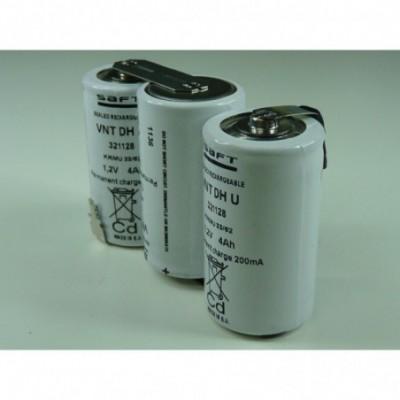 Batterie eclairage secours 3 VNT D U 3.6V 4Ah FAST