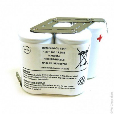 Batterie eclairage secours 4x D HT 1S4P ST6 1.2V 16Ah Cosse