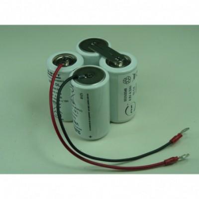 Batterie Nicd 4x D 4S1P ST2 4.8V 4500mAh Cosse