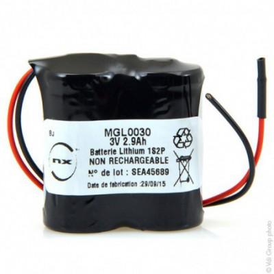 Batterie lithium 2x CR123 NX 1S2P ST1 3V 2.9Ah Fils