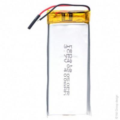 Batterie Li-Po 1S1P ICP501233PA + PCM UN38.3 3.7V 175mAh