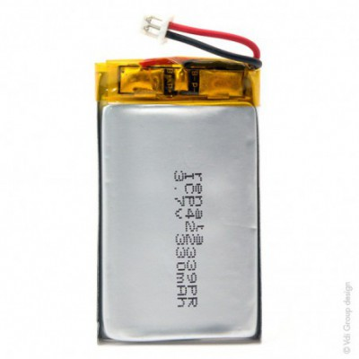 Batterie Li-Po 1S1P ICP422339PR + PCM UN38.3 3.7V 330mAh Molex