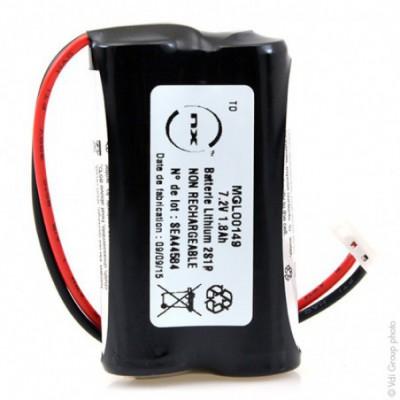 Batterie lithium 2xAA 2S1P ST1 7.2V 1800mAh EHR-3