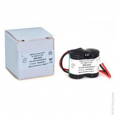 Batterie lithium 2x 1-2AA CR 2S1P ST1 6V 950mAh JST