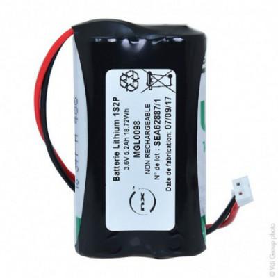 Batterie lithium 2x LS14500 1S2P ST1 3.6V 5200mAh JST