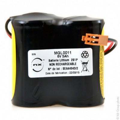 Batterie automate 2x C BR 2S1P ST1 6V 5Ah JAE