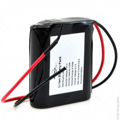 Batterie Li-Ion 1S1P MP144350 xlr 9.49Wh 3.65V 2.6Ah wires