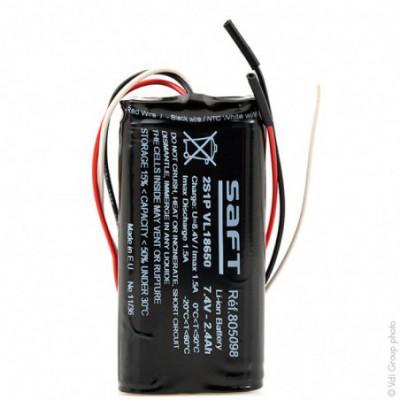 Batterie Li-Ion 2S1P VL18650 + PCM 7.4V 2.4Ah