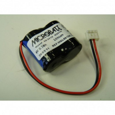 Batterie lithium 2x CR2 2S1P ST1 6V 700mAh JST
