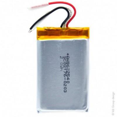 Batterie Li-Po 1S1P ICP622540PMT+ PCM UN38.3 3.7V 550mAh fils