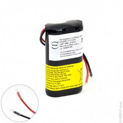 Batterie Li-Ion NX 1S2P ICR18650-26J + PCM (18.72Wh) UN38.3 3.6V 5.2Ah