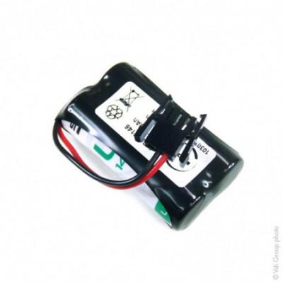 Batterie lithium 2x AA 1S2P ST1 3.6V 4.8Ah FC