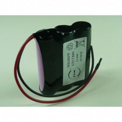 Batterie Li-Ion 3x 18650 1S3P ST1 3.6V 7800mAh Fils