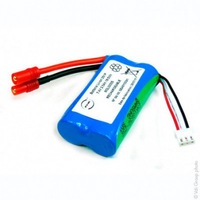 Batterie Li-Ion 2x 18650 2S1P ST1 7.4V 2.5Ah HXT