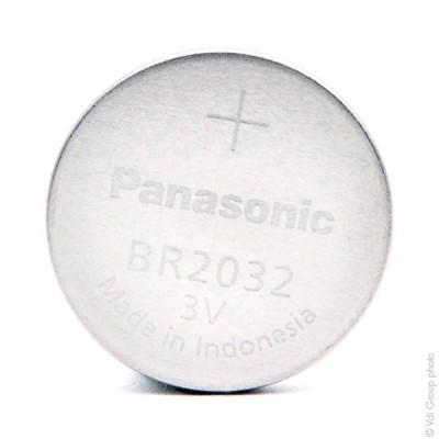 Pile bouton lithium blister BR2032/BN PANASONIC 3V 190mAh