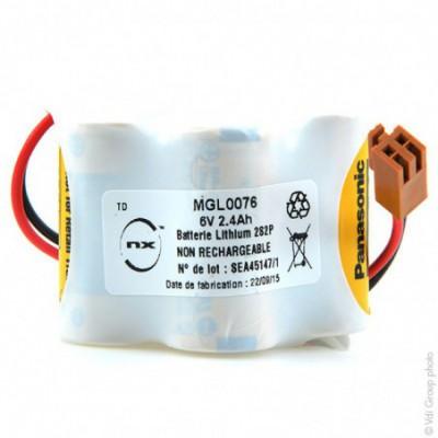 Batterie automate 4x 2-3A BR 2S2P ST6 6V 2.4Ah JAE