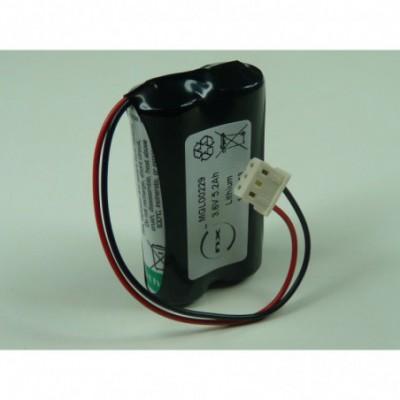 Batterie lithium 2x AA 1S2P ST1 3.6V 5200mAh Molex