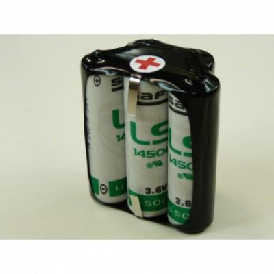 Batterie lithium 5x AA 1S5P ST7 3.6V 13000mAh T2