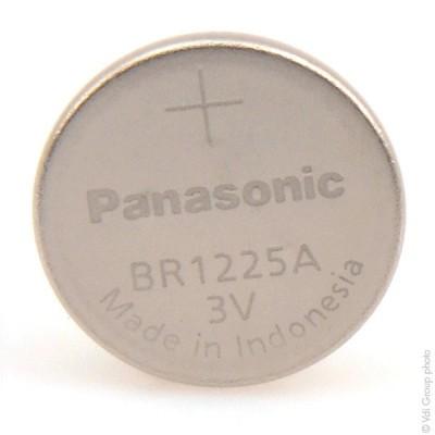 Pile bouton lithium blister BR1225A/BN PANASONIC 3V 48mAh