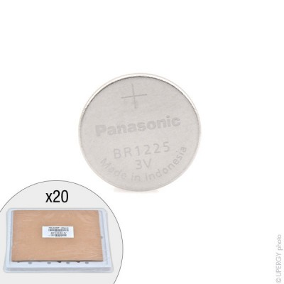 Pile bouton lithium BR1225/BN PANASONIC 3V 48mAh