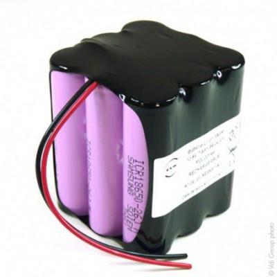 Batterie Li-Ion 9x 18650 3S3P 10.8V 7.8Ah F