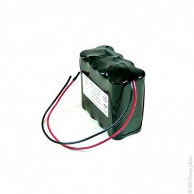 Batterie Li-Ion 8x 18650 4S2P ST2 14.4V 5.2Ah Fils