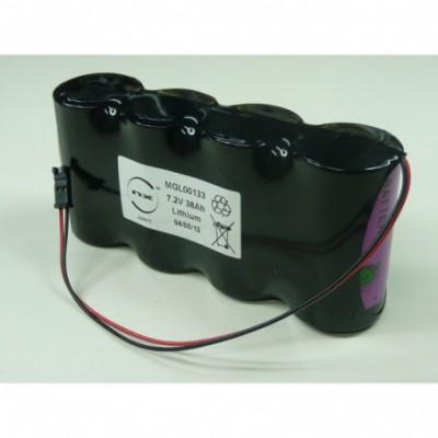 Batterie lithium 4x D SL2780 2S2P ST1 7.2V 38Ah FC