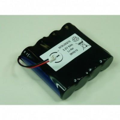 Batterie lithium fer phosphate 4x 18650 1S4P 3.2V 6000mAh JST