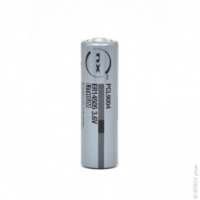 Pile lithium industrie ER14505 taille AA 3.6V 2.4Ah