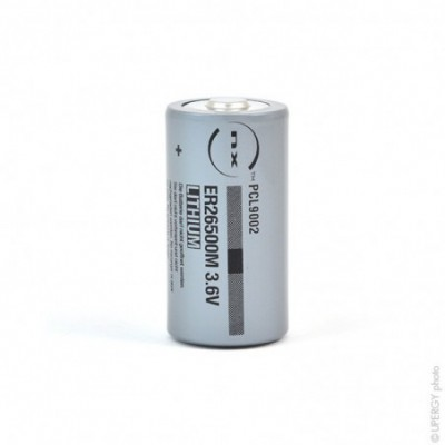 Pile lithium industrie ER26500M taille C 3.6V 6.5Ah