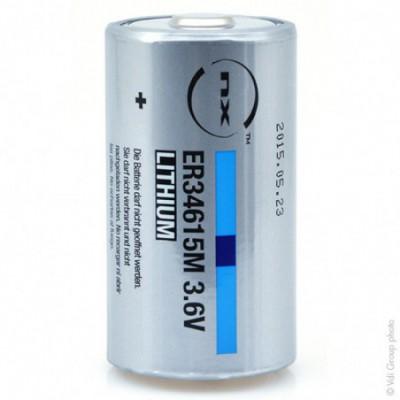 Pile lithium industrie ER34615M taille D 3.6V 14.5Ah PP