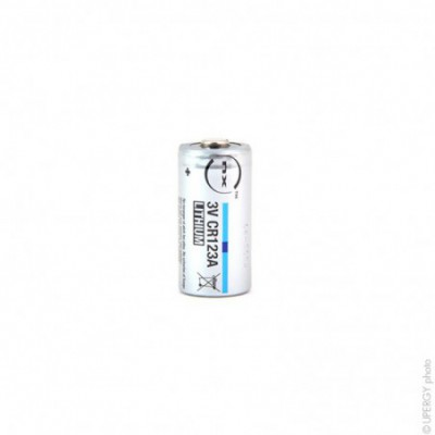 Pile lithium industrie CR123 ( boite de 12) 3V 1.45Ah