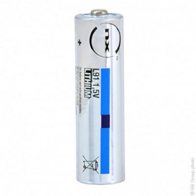 Pile lithium industrie L91 AA ( boite de 10) 1.5V 2800mAh