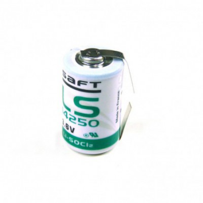 Pile lithium industrie LS14250 1/2AA CC 3.6V 1.2Ah T2