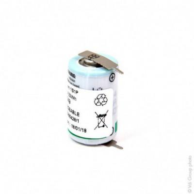 Pile lithium industrie 1/2 AA -14250 - 3.6V 1.2Ah P2