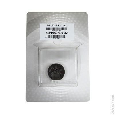 Pile bouton lithium blister CR2450NRV-LF RENATA 3V 540mAh